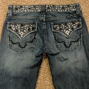 Miss Me Jeans - Miss Me Studded Blue Jeans Size 26